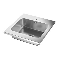 AMMERÅN - onset sink, 1 bowl, stainless steel | IKEA Hong Kong and Macau - PE584940_S3