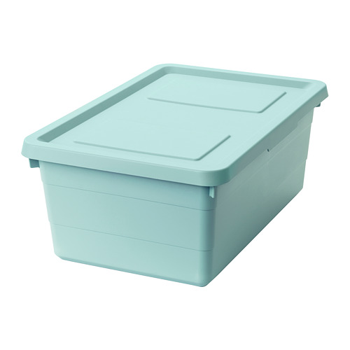 SOCKERBIT - 連蓋貯物盒, 淺藍色 | IKEA 香港及澳門 - PE694904_S4