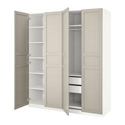 PAX - wardrobe, white/Flisberget light beige   IKEA Hong Kong and Macau - PE737811_S3