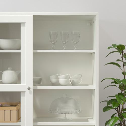 HAVSTA - 玻璃門貯物櫃連腳座板, 白色/透明玻璃 | IKEA 香港及澳門 - PE737835_S4