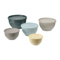 GARNITYREN - 連蓋碗,5件套裝, 多種顏色 | IKEA 香港及澳門 - PE790897_S3