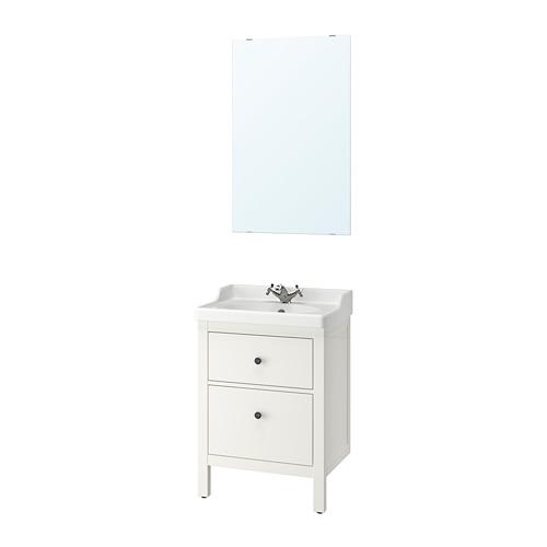 HEMNES/RÄTTVIKEN - bathroom furniture, set of 4, white/Runskär tap | IKEA Hong Kong and Macau - PE737858_S4