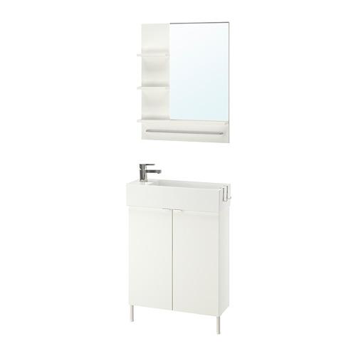 LILLÅNGEN/LILLÅNGEN - bathroom furniture, set of 5, white/Ensen tap | IKEA Hong Kong and Macau - PE737863_S4