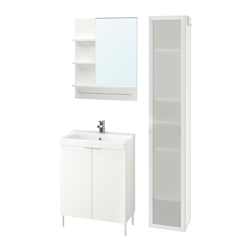 LILLÅNGEN/TÄLLEVIKEN - bathroom furniture, set of 6, white/Ensen tap | IKEA Hong Kong and Macau - PE737883_S4