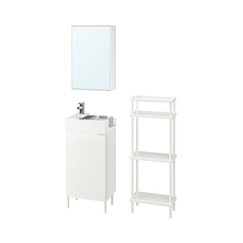 LILLÅNGEN/LILLÅNGEN bathroom furniture, set of 6