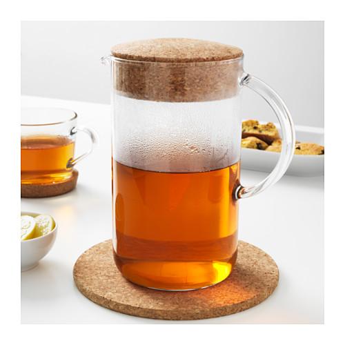 IKEA 365+ - jug with lid, clear glass/cork | IKEA Hong Kong and Macau - PE523607_S4