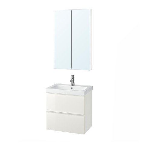 ODENSVIK/GODMORGON - 浴室貯物組合 4件裝, high-gloss white/Dalskär tap   IKEA 香港及澳門 - PE737925_S4