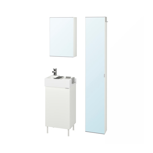 LILLÅNGEN/LILLÅNGEN bathroom furniture, set of 6