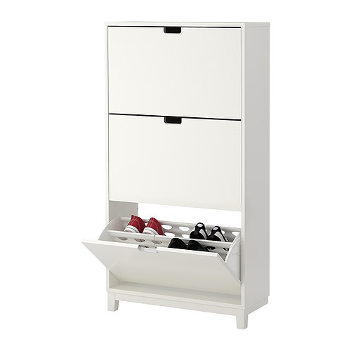 STÄLL - shoe cabinet with 3 compartments, white   IKEA Hong Kong and Macau - PE255079_S4