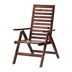 ÄPPLARÖ - reclining chair, outdoor, foldable brown stained | IKEA Hong Kong and Macau - PE285693_S3