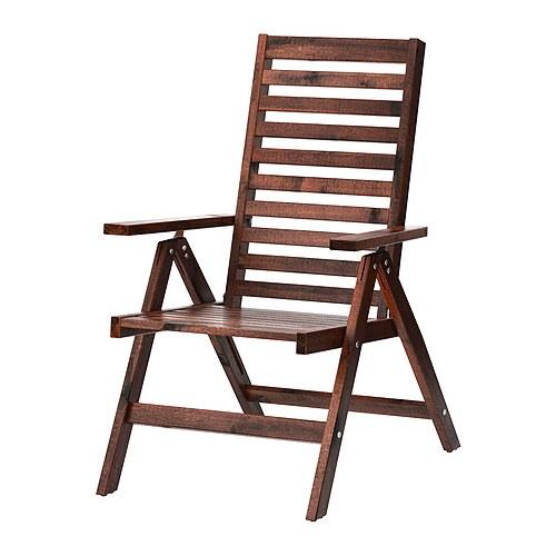 ÄPPLARÖ - 戶外躺椅, 可摺合 染褐色 | IKEA 香港及澳門 - PE285693_S4