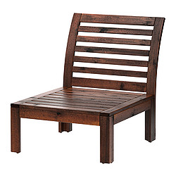 ÄPPLARÖ - one-seat section, outdoor, brown stained | IKEA Hong Kong and Macau - PE285708_S3