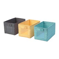 UPPRYMD - 貯物箱, 黑色 黃色/湖水綠色 | IKEA 香港及澳門 - PE776969_S3
