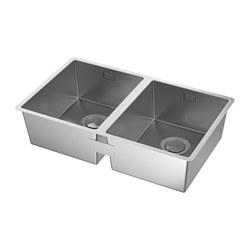 NORRSJÖN - inset sink, 2 bowls, stainless steel | IKEA Hong Kong and Macau - PE585281_S3