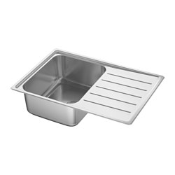 VATTUDALEN - inset sink, 1 bowl with drainboard, stainless steel | IKEA Hong Kong and Macau - PE585285_S3