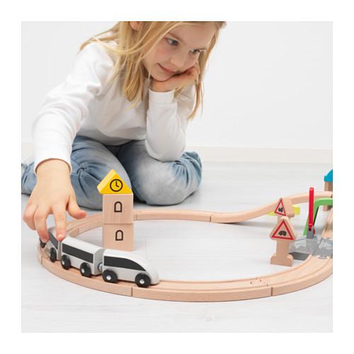 LILLABO 火車玩具組合,45件套裝