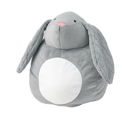 PEKHULT - soft toy with LED night light, grey rabbit/battery-operated | IKEA Hong Kong and Macau - PE777022_S3