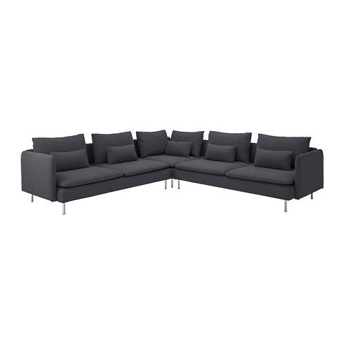 SÖDERHAMN - corner sofa, 6-seat, Samsta dark grey | IKEA Hong Kong and Macau - PE738200_S4