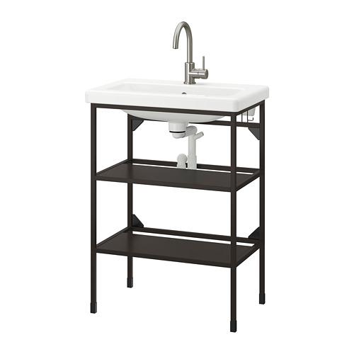 TVÄLLEN/ENHET - open wash-stand with 2 shelves, anthracite/Glypen tap   IKEA 香港及澳門 - PE777050_S4