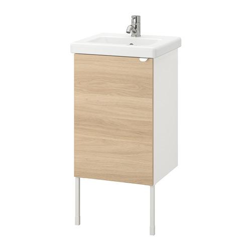 TVÄLLEN/ENHET - 單門洗手盆櫃, oak effect/white Pilkån tap   IKEA 香港及澳門 - PE777097_S4