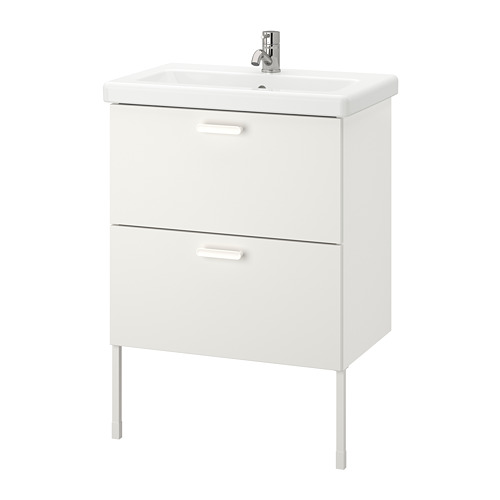 TVÄLLEN/ENHET - 雙抽屜洗手盆櫃, white/Pilkån tap   IKEA 香港及澳門 - PE777083_S4