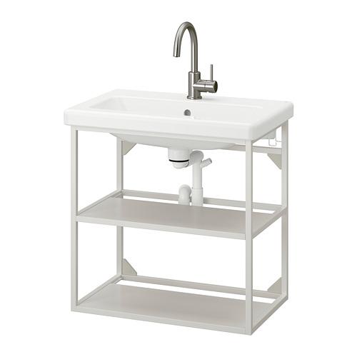 TVÄLLEN/ENHET - open wash-stand with 2 shelves, white/Glypen tap | IKEA 香港及澳門 - PE777108_S4
