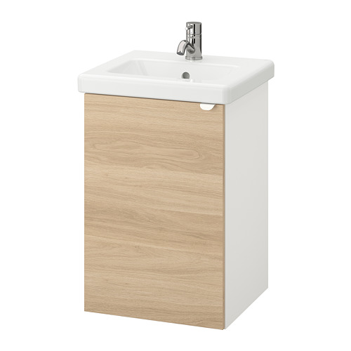 TVÄLLEN/ENHET - 單門洗手盆櫃, 橡木紋/白色 PILKÅN水龍頭   IKEA 香港及澳門 - PE777111_S4
