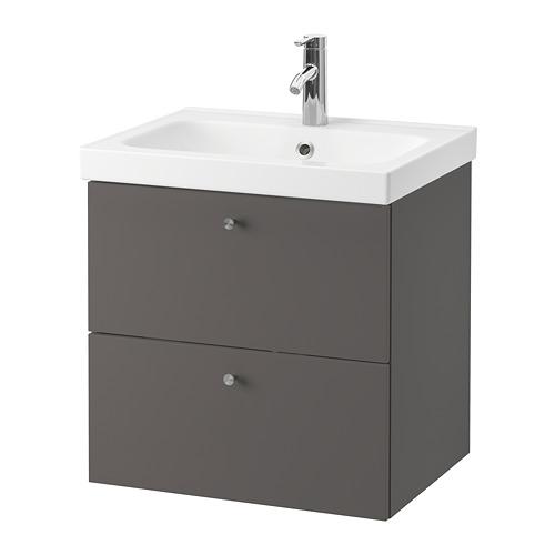 GODMORGON/ODENSVIK - wash-stand with 2 drawers, Gillburen dark grey/Dalskär tap | IKEA Hong Kong and Macau - PE777177_S4