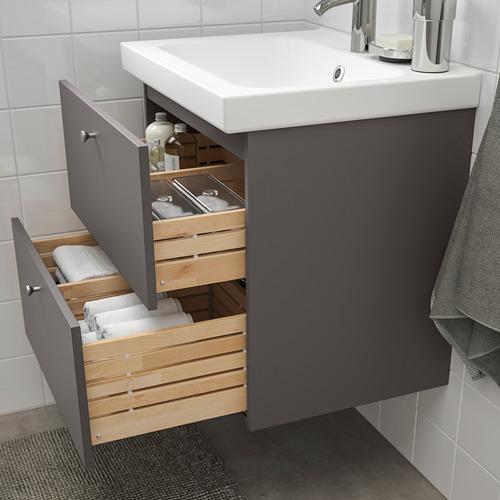 GODMORGON/ODENSVIK - wash-stand with 2 drawers, Gillburen dark grey/Dalskär tap | IKEA Hong Kong and Macau - PE777179_S4
