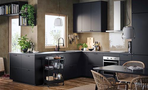 METOD - 角位地櫃連旋轉盤, 白色/Kungsbacka 炭黑色 | IKEA 香港及澳門 - PH174294_S4