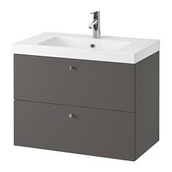 GODMORGON/ODENSVIK - wash-stand with 2 drawers, Gillburen dark grey/Dalskär tap | IKEA Hong Kong and Macau - PE777185_S3