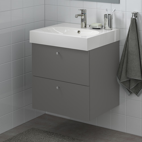 GODMORGON - wash-stand with 2 drawers, Gillburen dark grey | IKEA Hong Kong and Macau - PE777204_S4