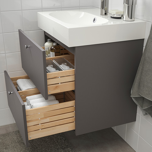 GODMORGON - wash-stand with 2 drawers, Gillburen dark grey | IKEA Hong Kong and Macau - PE777205_S4