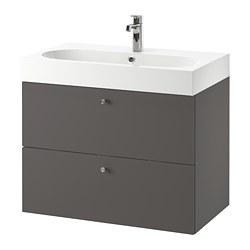 GODMORGON/BRÅVIKEN - wash-stand with 2 drawers, Gillburen dark grey/Brogrund tap | IKEA Hong Kong and Macau - PE777212_S3