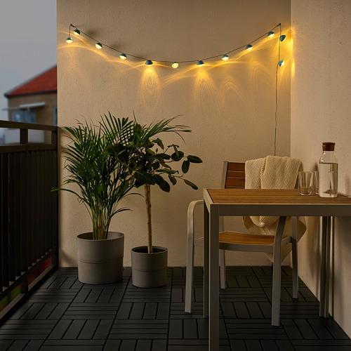SOLVINDEN - 12頭LED燈串, battery-operated outdoor/mini headlight blue | IKEA 香港及澳門 - PE791130_S4