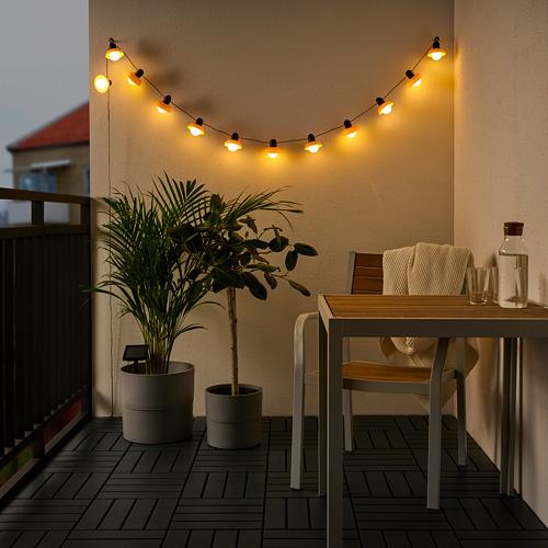 SOLVINDEN - 12頭LED燈串, outdoor solar-powered/mini lantern beige | IKEA 香港及澳門 - PE791131_S4