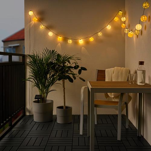 SOLVINDEN - 24頭LED燈串, 戶外 球形/彩色 太陽能 | IKEA 香港及澳門 - PE791133_S4
