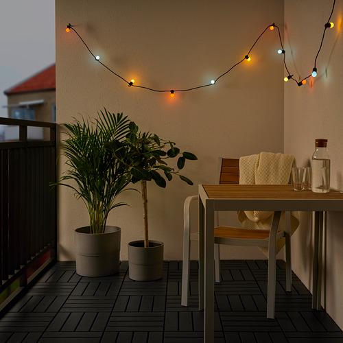 SOLVINDEN - 12頭LED裝飾燈串, 電池操作/戶外 彩色 | IKEA 香港及澳門 - PE793860_S4