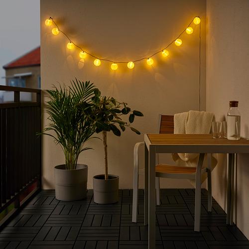 SOLVINDEN - 12頭LED裝飾燈串, 戶外/電池操作 白色   IKEA 香港及澳門 - PE793862_S4