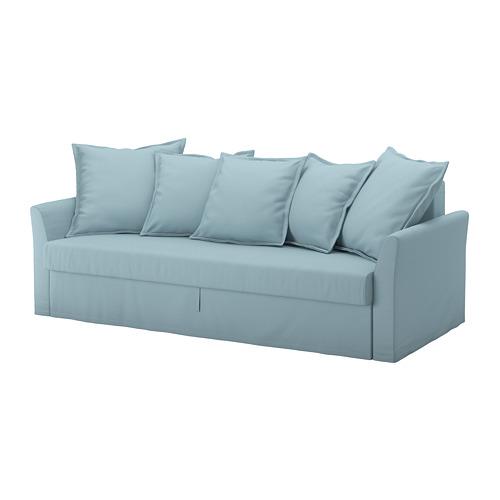 HOLMSUND - three-seat sofa-bed with storage, Orrsta light blue | IKEA Hong Kong and Macau - PE647438_S4