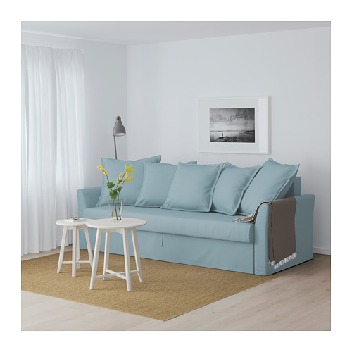 HOLMSUND - three-seat sofa-bed with storage, Orrsta light blue | IKEA Hong Kong and Macau - PE647445_S4