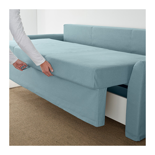 HOLMSUND - three-seat sofa-bed with storage, Orrsta light blue | IKEA Hong Kong and Macau - PE647442_S4