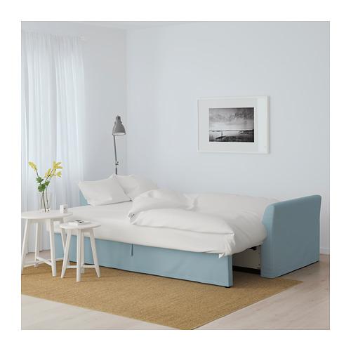 HOLMSUND - three-seat sofa-bed with storage, Orrsta light blue | IKEA Hong Kong and Macau - PE647443_S4