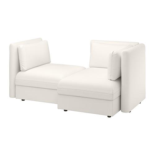 VALLENTUNA - 2-seat modular sofa, with storage/Murum white | IKEA Hong Kong and Macau - PE738349_S4