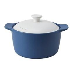 STORKOK - 連蓋鍋3.6 升, 陶瓷 藍色/白色 | IKEA 香港及澳門 - PE777308_S3