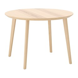 LISABO - 檯, 直徑105cm, 梣木飾面 | IKEA 香港及澳門 - PE695175_S3