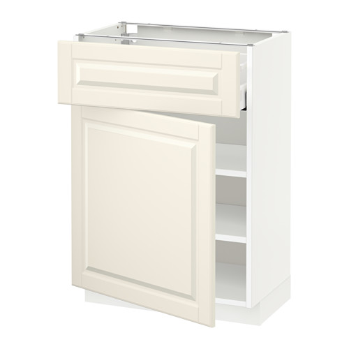 METOD/MAXIMERA - base cabinet with drawer/door, white/Bodbyn off-white | IKEA Hong Kong and Macau - PE521268_S4