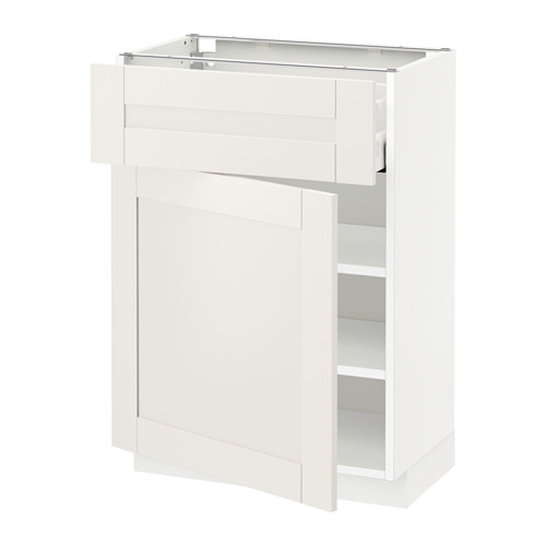 METOD/MAXIMERA - base cabinet with drawer/door, white/Sävedal white   IKEA Hong Kong and Macau - PE521299_S4