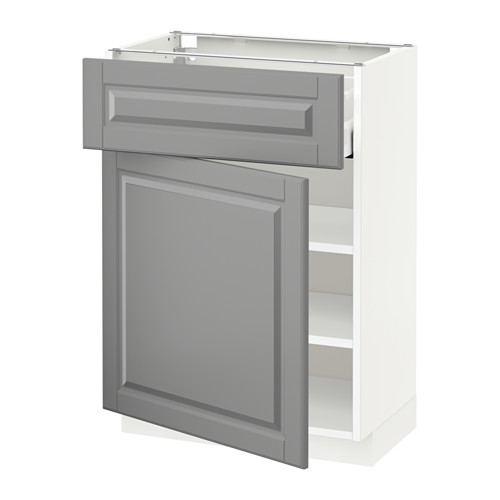 METOD/MAXIMERA - base cabinet with drawer/door, white/Bodbyn grey | IKEA Hong Kong and Macau - PE521315_S4