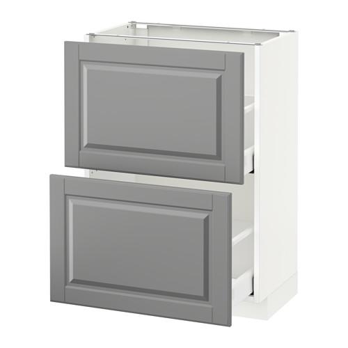 METOD - base cabinet with 2 drawers, white Maximera/Bodbyn grey   IKEA Hong Kong and Macau - PE521335_S4